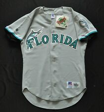 FLORIDA MARLINS GRAY BLANK RUSSELL SPELL OUT SEWN MENS 40 MEDIUM NWT