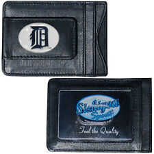 Detroit Tigers MLB Baseball Team Leather Card Holder Money Clip Wallet