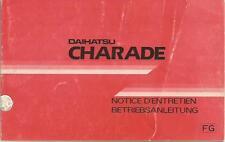 DAIHATSU CHARADE Betriebsanleitung 1987 Bedienungsanleitung Handbuch Bordbuch BA