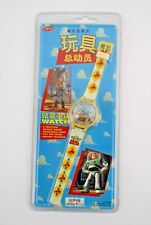 RARE TOY STORY WOODY QUARTZ LED WATCH JAPANESE KIDDIE TIME - 1995 DISNEY NIP