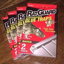 8 Ratguard Bait Glue Traps Rat Guard Rodent, Mice & Pest Control Sticky Nontoxic