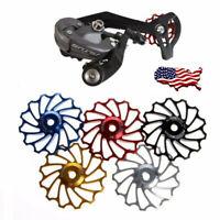13T MTB Bicycle Rear Derailleur Aluminum Jockey Wheel Ceramic Bearing Pulley