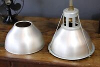 Vintage Lobay Holophane Light Industrial Aluminum Shade cover (Cover Only)