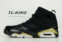 Nike Air Jordan FLTCLB '91 Flight Club Black Metallic Gold White 555475-031 CN