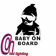 1 PC Baby on Board Snowboard 15cmx10cm Avvertimento Decalcomania Auto Vetrofania NERO