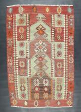 "Turkish Kilim Rug from Afyon Anatolia Wool on Wool 4""56' X 3""02'"