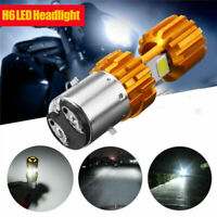 H6 BA20D LED COB Motorcycle Bike Hi/Lo Headlight Lamp Bulb 6000K 2000LM White