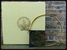 Vintage 1969 Nixon Inagural Ball Gift- Gold Filled Bracelet & Medallion w box