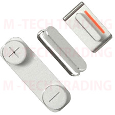 GENUINE IPHONE 5 SILVER INNER SIDE VOLUME POWER MUTE SILENT KEY BUTTON SET PART