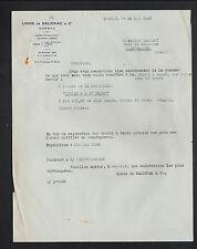"""COGNAC (16) ALCOOL / COGNAC """"Louis de SALIGNAC & Cie"""" en 1948"""