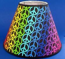Peace Symbol Handmade Retro Lamp Shade 60's Lampshade