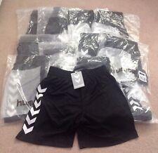 Boys Age 10-11-12 Years Hummel Black Football Shorts New Drawstring Waist bargai