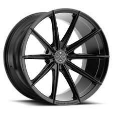 "20"" BLAQUE DIAMOND BD11 BLACK CONCAVE WHEELS RIMS FITS JAGUAR XFR"