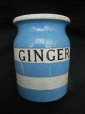 Small T.G.Green CORNISHWARE Blue & White ** GINGER ** Storage Spice Jar