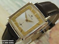 1960's Vintage HAMILTON Square, Stunning Silver & Gold Dial, Serviced