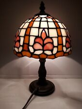 Vintage Beautiful Stain Glass Tiffany Style Side Table Lamp. Absolutely stunning