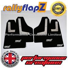 Mudflaps SUBARU IMPREZA Hatch 08-14 rallyflapZ 4mm PVC Black STi style White sml
