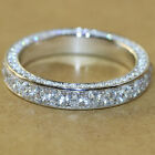 Gorgeous 925 Silver Rings For Women Cubic Zirconia Wedding Jewelry Size 6-10