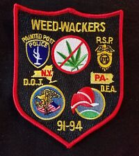 DRUG ENFORCEMENT ADMINISTRATION DEA DOJ WEED-WACKERS  POLICE PATCH