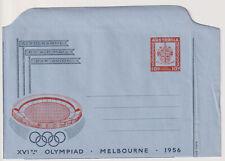 AUSTRALIA 1956: folded unused 10d Olympic Games aerogramme H&G FG8 · fine (1428)