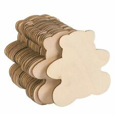 Imprue Unfinished Wood Cutout - 24-Pack Bear Shaped Wood Pieces for Wooden Craft