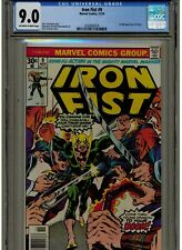 IRON FIST #9 CGC 9.0 VF/N/MINT OWTW PAGES 1976 1ST APPEARANCE OF CHAKA BLUE