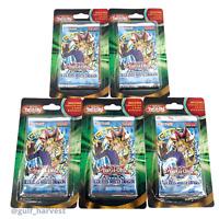 Lot of (5) Yugioh Legend of Blue Eyes White Dragon Blister Booster Packs + Cards