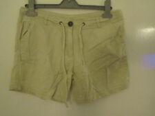 Primark Low Rise Light Beige Linen Blend Shorts in Size 10