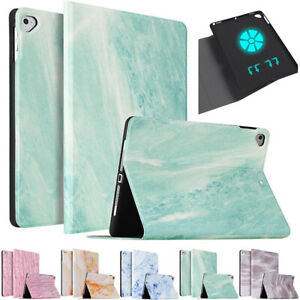 For iPad 5/6/7th 8th Gen Pro 10.5 11 2020 Mini Air Smart Marble Stand Case Cover