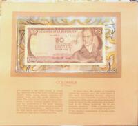 Most Treasured Banknotes Colombia 1983 50 Pesos UNC P 422b