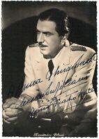 Opera - Autografo del tenore Alessandro Ziliani (Busseto, 1906 - Milano, 1977)