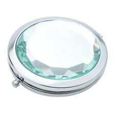 Travel Compact Pocket Crystal Folding Makeup Mirror Mintcream F6f3