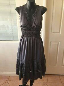 Ladies URBAN Grey Lace Dress Size 6 - NWOT