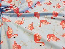 Flamingo Fabric 100% Organic Cotton Fabric 160cm wide, per half meter