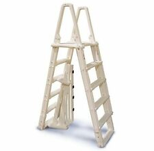 """Confer 7100B Evolution A Frame Above Ground Swimming Pool Ladder 48"""" to 54"""""""