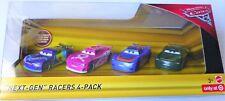 Mattel Disney Pixar Cars Diecast Auto Next-Gen Racers 4-Pack Neuware / New