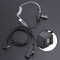 2Pin Covert Air Acoustic Tube Earpiece Headset Mic for Motorola Two Way Radios