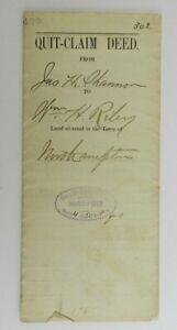1886 Quit Claim Deed Hampshire County Commonwealth Massachusetts