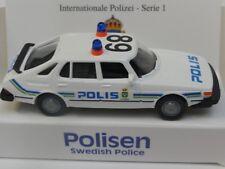 1/87 Wiking Saab 900 Polis Schweden Sondermodell Reinhardt