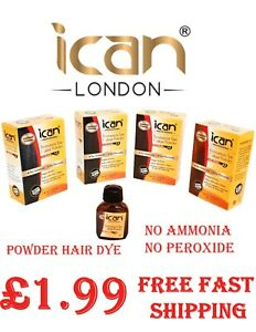 ican Permanent Powder Hair Dye-No Ammonia, no peroxide Mix with water only