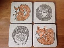 Coasters 4 Pcs Inspire Square Luxury Heat Resistance to 110c Table Protect