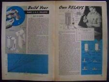 AC-DC & THERMAL RELAYS How-To Design & Build 1946 PLANS