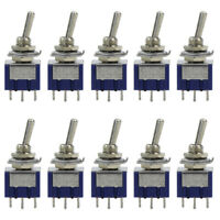SW02 10pcs Miniature Toggle Switch ON-OFF-ON DPDT