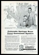1956 Gamewell fire alarm box Colorado Springs Mayor photo vintage trade print ad