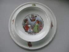 Royal Baby Plate 1905 Child Pottery Dish Old Woman Whither So High Nursery Rhyme