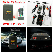 HD DVB-T TV Receiver Box Tuner Four Way Dual Antenna Car Mobile Digital TV Box
