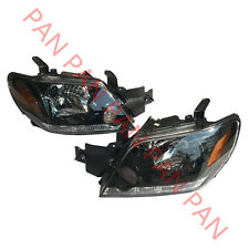 Pair front head lamps lights Headlights for Mitsubishi Outlander 2003-2006