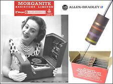 AB - Morganite UK 1/2W Carbon Composition Resistors - Audio Grade x 10 pieces