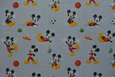 Disney Sporty Mickey Mouse Fabric - Children's, 100% Cotton, Curtains & Cushions