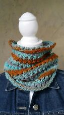 Hand knitted   Cowl with handspun yarn
